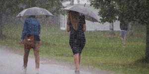 Enligt SMHI regnade det totalt 5,1 millimeter i Norrtälje under söndagen. Detta uppmättes på deras enda officiella mätstation i kommunen, i Svanberga. Lokala variationer kan därför ha förekommit. Arkivbild.