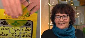 Gun Thuvesson skrapade hem nästan två miljoner kronor i Nyhetsmorgon. BIld: TV4
