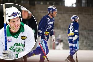 Johan Esplund, till vänster i VSK och till höger i Villa Lidköping. Bild: Tony Persson/Rickard Bäckman.