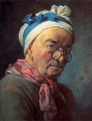 Jean-Baptiste-Siméon Chardins självporträtt från 1771.