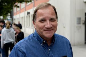 Statsminister Stefan Löfven var på plats i Sundsvall för att se den allsvenska matchen mellan GIF Sundsvall och Hammarby.