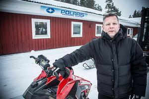Anders Lindqvist, teknisk chef  hos Polaris i Lugnvik ser en kraftig ökning av snöskotrar speciellt på begagnade maskiner.