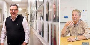 Framgångsrika Ica-handlare. Till vänster: Torbjörn Kvist, handlare, ca Maxi Stormarknad Erikslund. Till höger: Lennart Holmgren, Ica Maxi Stormarknad Hälla. Foto: Ida Forsgren och Daniel Guerra