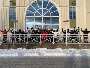 PROs promenadgrupp visar sina känslor för HHC. Fotograf: Maj-Britt Norlander