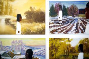 Ännu har ingen hört av sig och varit upprörd över att Lindberg De Geer fortsatt måla på deras verk.