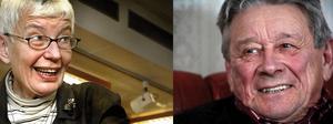 Förra kulturchefen Monica Borg samt förra kommunalrådet Bertil Andersson har utsetts till årets kulturspristagare i Smedjebacken. Foto: Gunne Ramberg/Peter Ohlsson