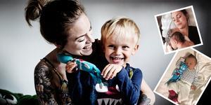 Marielle Bergqvist tillsammans med sonen Viggo.