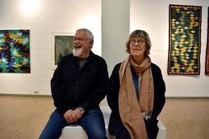 Säterkonstnärerna Lars Wikström och Kristina W-Hedman ställer ut på Rättviks konsthall.