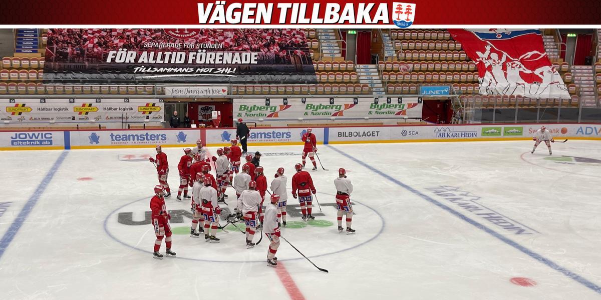 Duo fortsatt borta – så formerade Timrå IK laget under lördagens träning