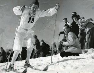 Martin Lundström under OS i St. Moritz 1948. Bild: TT.
