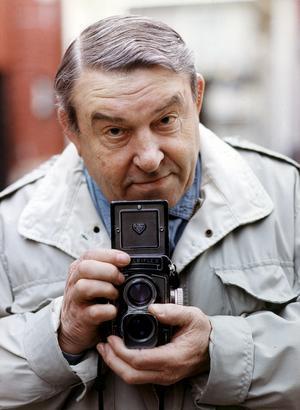 Den berömde fotografen Åke V Larsson var länge Västerås Konstnärsförenings starke ordförande. Foto: Lars Höglund/VLT