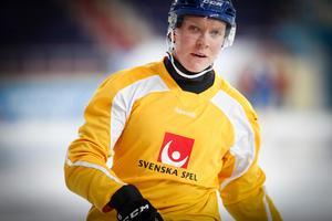 Daniel Berlin är en av nyckelspelarna i jakten på nytt VM-guld i Chabarovsk. Foto: Rikard Bäckman / Bandypuls.se / TT