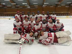 Flicklaget i Timrå IK som åker till Kullacupen i Falun.