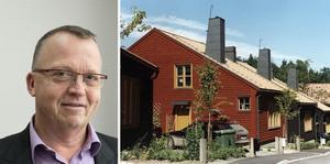 Bengt-Göran Pettersson (KD). Byggnaderna i den planerade trädgårdsstaden kan komma att likna de hus som finns i Tullinge trädgårdsstad. Foto: Brunnberg & Forshed