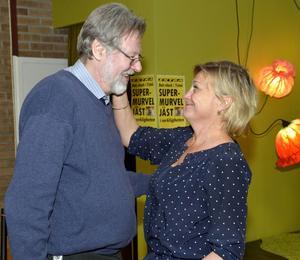 Det var stor uppslutning när Christer Mårtensson slutade. Sveriges Televisions vd Eva Hamilton tackade Christer för åren på Vipåtv.