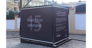 Domarhagens kub som kommer ta plats i Kungsträdgården i Stockholm. Foto: Smilla Frykholm för Raoul Wallenberg Academy