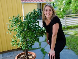 Apelsinträdet planterade Kerstin när hon var tio år gammal.