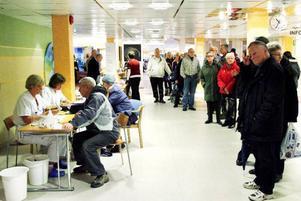Kön ringlade lång till lungfunktionstestet som dagen till är var gratis på Östersunds sjukhus under gårdagens förmiddag.