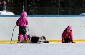 Det var bevisligen inte bara humöret som var glatt under Kraftsamling Fränstas familjedag, utan även underlaget på isbanan benämnd Kraftsamling arena.