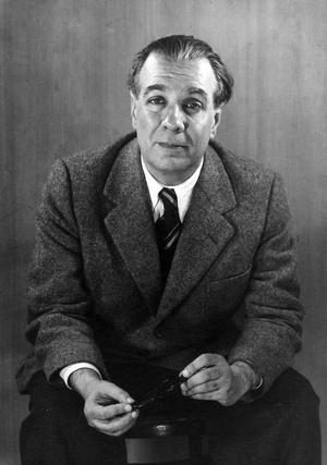 Den argentinske mästaren Jorge Louis Borges 1951. Foto: Grete Stern