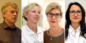 Johan Nilsson (ortopedi), Maria Strandberg (medicin), Marju Dahmoun (kvinnosjukvård) och Eva Fehrman (röntgen) är fyra länsklinikchefer som har mer än 100 000 kronor i månadslön.