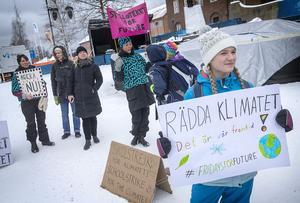 Unga skolstrejkare och äldre demonstranter samlades för att manifestera för en bättre klimatpolitik.