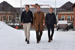 Samuel Alander, Simon Sätherberg och Harald Granath har börjat knyta ungdomar till den arbetsmarknadspool som finns i deras UF-företag.