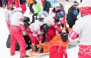 Foto: Bildbyrån   Måns Hedberg knockades vid kraschen och vaknade upp en stund senare på båren, och där kom både smärtan och alla känslor på en och samma gång.