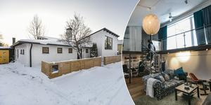 Familjen Bäck köpte i slutet av 2014 den iögonfallande vita tegelvillan på Tannhöjdsvägen.