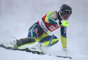 Sveriges André Myhrer under världscuptävlingen i Val d'Isére. Bild: TT Nyhetsbyrån.