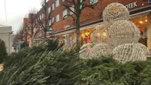 Juldekoration i Nynäshamn.