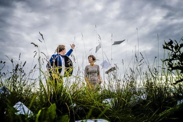 Daniel Beskow och Josefine Andersson har skapat duon Nordic-light duo. Nu har de musicerat ihop i fyra år. Foto: Håkan Röjder