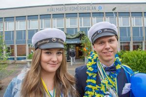 Maja Lindberg och Daniel Persson fick tillsammans med Kristina Åström och Alva Stener Karlsson priset som Årets UF-företagare på Hjalmar Strömerskolan i Strömsund.