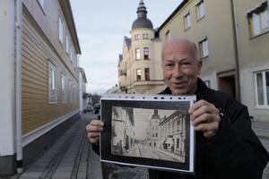 Dan Andersson bodde i Lindesberg och skickade flera vykort härifrån, bland annat det här visar Nils Holmdahl.