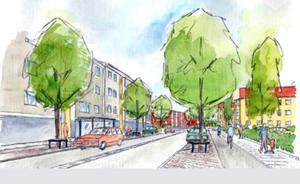 Ombyggnaden av Hagavägen påbörjas i april 2019. Illustration: Tyréns.
