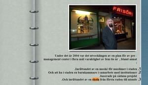 Skärmdump från Gävle moskés hemsida.