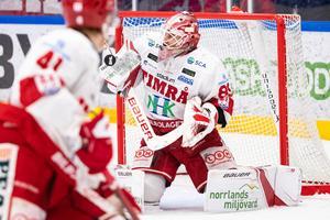 Niklas Svedberg storspelade i Timråmålet i 5–0-segern borta mot Mora. Foto: Daniel Eriksson/Bildbyrån
