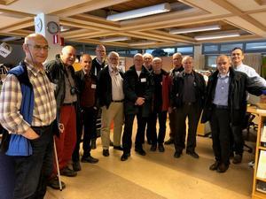 Från vänster syns Erik Ledin, Torbjörn Sima , Jan Nilsson, Gustaf Palm, Anders Planefeldt, Anders Ödmark, Bengt Mikaelson, Bengt Nilsson, Gunnar Östman, Torsten Svensson och  teknikläraren Anders Svensson.