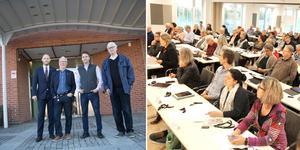 Allians Norrtälje 2018. Bino Drummond (M), Anders Olander (C), Robert Beronius (L) och Göte Waara (KD). Bilder: Emelie Stenqvist och Grethel Hjuberger