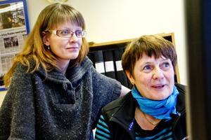 Josefine Lausen och Berith Landén har sina arbetsplatser på Stadsbiblioteket.