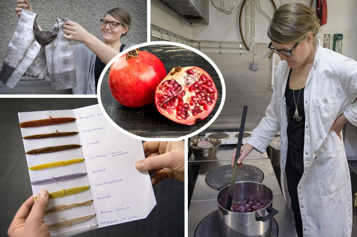 3998163ed7f5 Granatäpplen och gamla spikar – lär dig färga tyg på naturlig väg