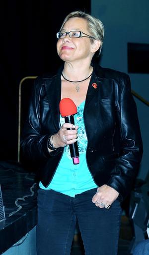 """Marita Engström, V, verkade nöjd med """"Gävle tacklar och bockar""""."""