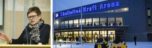 Skellefteå kommun rättar Örnsköldsviks kommuns uppgifter om kostnaderna och bidragen för staden arena.
