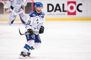 Anton Öhman fick sätta sitt första Leksandsmål.Foto: Simon Hastegård / Bildbyrån.