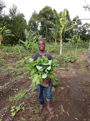 Baraka är officiell ägare till farmen och bor och tar hand om odlingen året om.