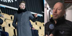 Patrik Berglund och VIK:s sportchef Patrik Zetterberg.