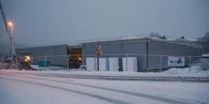 Byggnationen av Dollarstore på eftermiddagen den 8 januari.