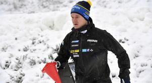 Johannes Lukas under en sprinttävling i Idre.