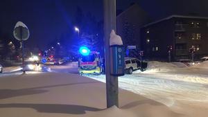 En annan ambulans fick ta över uppdraget på Frösön.