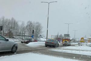 Olyckan har inträffat i närheten av Circle K i Falun.